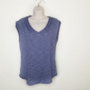Lululemon》 Thin Blue Burnout Cinched Sleeve Tank